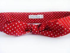 Red Polka Dot Fabric Headband - Red Bow Headband - Cotton Headband - Retro Style Head Scarf - Knotted Headband - Polka Dot Bandana on Etsy, ¥1,063.83