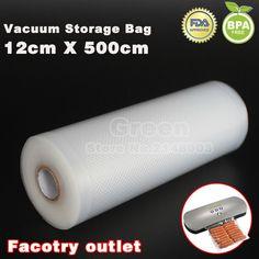 (5 Roll/ Lot) 12cm x 500cm Fresh-keeping bag of vacuum sealer food storage bags packaging film KitchenBoss