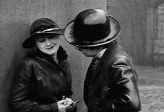 """womeninmovieswearinghats: """" Edna Purviance and Charlie Chaplin in The Immigrant (1917) Direction: Charles Chaplin Costumes: Not credited """" Charlie was involved in every phase of the film making process including costumes."""