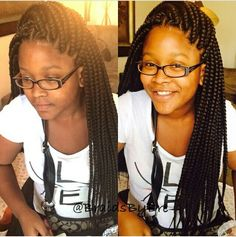 Cute large braids
