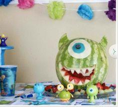 Monsters fruit salad.  Mike watermelon. :)