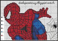 Spiderman pattern by Dinha Ponto Cruz