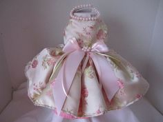 Dog Dress XS Pink Rose By Nina's Couture by NinasCoutureCloset, $70.00