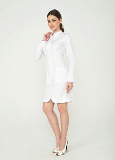 Халат 2.69 А Modest White Dress, White Scrubs, White Lab Coat, Pinning Ceremony, Nursing Pins, Lab Coats, Ceremony Dresses, Work Uniforms, Promotion Marketing
