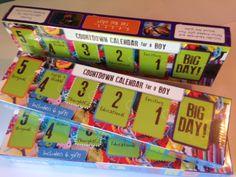Countdown calendar for a boy!