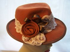 Hey, I found this really awesome Etsy listing at https://www.etsy.com/listing/107090455/trilby-fedora-burnt-orange-wool-felt-hat
