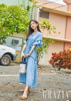 Jung So Min Fashionably Ready for Summer in Grazia June Pictorial Jung So Min, Young Actresses, Korean Actresses, Korean Celebrities, Korean Outfits, Korean Beauty, Aesthetic Girl, Beautiful Actresses, Girl Crushes