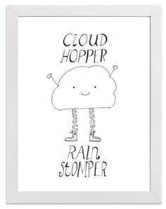 Image of Cloud Hopper Rain Stomper Print