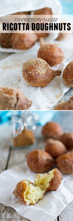 Ricotta Doughnuts - These easy ricotta doughnuts are soft and tender and require no rising time!