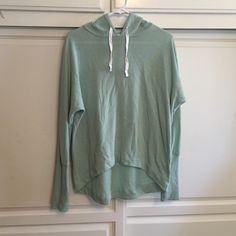 Teal Sweater Teal Sweater with white strings, no stains or tears worn maybe 5 times ! Super comfortable can fit S/XS Mossimo Supply Co Sweaters