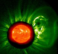 Ka-Booooooom! by NASA: A solar eruption and the blast of particles.  #Solar_Eruption #Astronomy #NASA