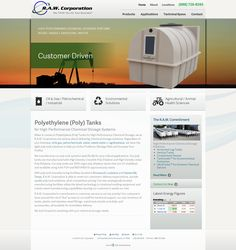 RAW Tanks in Broussard, LA, Website Design and Development: Contact Form, Location Map, Products Web App, Media Downloads, Locations App