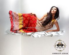 Ambreen Azhar Semi-formal Dresses 2013 for Women