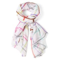 Check out this item at One Kings Lane! Pastel Plaid Scarf