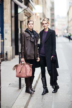 #ValeryKaufman & #VolhaKhakholka #offduty in Paris.