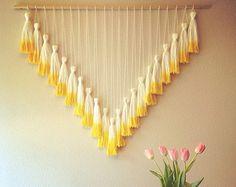 Dip Dyed Tassel Wall Hanging // Mega Yellow
