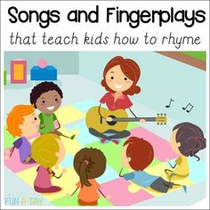 Kid-approved fingerplays and rhyming songs for preschool and kindergarten-SHARED BY MARY CATHERINE There's a reason songs get stuck in our heads. The rhythm, rhyme, and repetitive structures of these songs appeal to the way our brains work. Preschool Music Activities, Kindergarten Songs, Preschool Learning, Teaching Kids, Preschool Fingerplays, Preschool Movement Songs, Kindergarten Readiness, Phonics Games, Time Activities