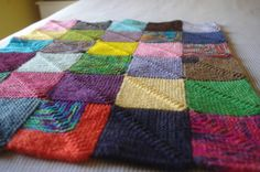 How to make a mitred blanket.