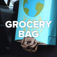4 Easy Grocery Bag Hacks #bags #shopping #recycle