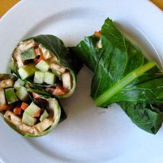 Different options for Collard Wraps