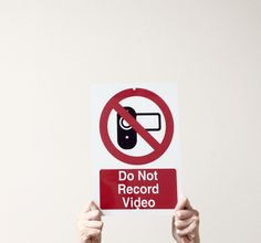 'Do not record video' - Metal sign #lichtworksprinting #metalsign #signs #graphicdesign #atlantamade