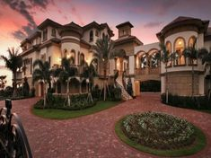 Unique beachfront Mediterranean home design in Naples, FL by Weber Design Group, Inc. Mediterranean Homes, Mediterranean Architecture, Classical Architecture, House Goals, Palm Beach, My Dream Home, Dream Big, Future House, Luxury Homes