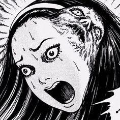 Junji Ito, Gothic Anime, Manga Girl, Manga Anime, Anime Art, Horror Drawing, Horror Art, Aesthetic Art, Aesthetic Anime