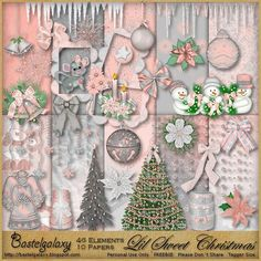 """Photo from album """"Lil Sweet Christmas"""" on Yandex. Lil Sweet, Scrapbook Patterns, Diy And Crafts, Paper Crafts, Digital Scrapbook Paper, Christmas Scrapbook, Printable Paper, Print And Cut, Clip Art"""