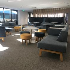 Another gorgeous fit-out complete - featuring Markant Hybrid soft seating 🌟perfect seating solution for large floor plans Large Floor Plans, Soft Seating, Flooring, How To Plan, Table, Commercial, Furniture, Fit, Projects