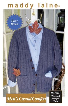 Designed for men but why not knit as a boyfriend cardigan? Crochet Cardigan Pattern, Chunky Knit Cardigan, Easy Knitting, Knitting Patterns Free, Knitting Stitches, Free Pattern, Patons Classic Wool, Dress Gloves, Cardigan Fashion