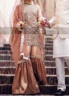 Best Picture For wedding events outfit For Your Taste You are looking for something, and it is going to tell you exactly what you are looking for, and you didn't find that picture. Here you will find Pakistani Wedding Outfits, Pakistani Bridal Dresses, Pakistani Dress Design, Bridal Outfits, Indian Dresses, Gharara Designs, Nikkah Dress, Muslim Women Fashion, Party Wear Lehenga