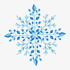 Snowflake hand-painted watercolor design, Watercolor, Snowflake Hand-painted Watercolor, Snowflake Material Collection PNG and Vector