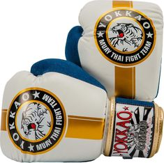 See our Official Fight Team gloves in denim and gold. Made with triple density foam for unparalleled impact distribution. Mma, Muay Thai Gloves, Martial Arts Equipment, Boxing Gloves, Denim, Gold, Photography, Boxing, Photograph