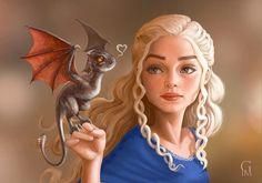 """Daenerys and Drogon"" by GloriaPM (@gloriadigitalart) on #DeviantArt"