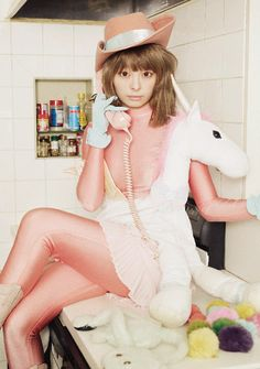 Kyary Pamyu Pamyu by Steve Nakamura . I love this outfit so much, it's so playful and coy and clever, like Kyary herself. Can't wait to see where she takes it as she gets older.