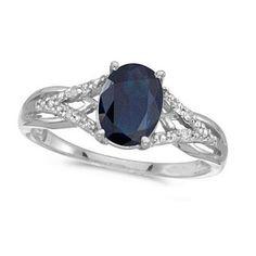 1.52tcw Natural Blue Sapphire & Diamond Cocktail Ring by Allurez, $473.00
