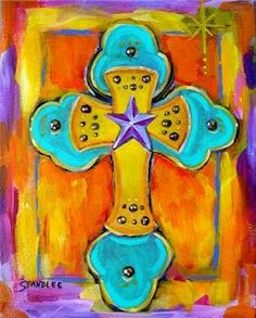 Image detail for -. wrapped canvas acrylic on canvas this christian cross painting has Cross Canvas Paintings, Canvas Art, Kids Art Class, Cross Art, Christian Symbols, Acrylic Painting Techniques, Tole Painting, Acrylic Art, Painting For Kids