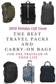 Looking to gift the traveler in your life a new travel bag? Choosing the perfect travel backpack or carry-on can be daunting, but with this curated list of backpacks and travel bags that my friends and I swear by, it doesn't have to be!