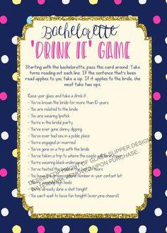 Printable bachelorette game/ bachelorette drinking game / bachelorette party game / drink if game / take a sip game / Spade bachelorette by PrettyPrintablesInk on Etsy