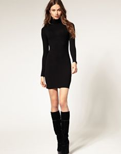 We've gathered our favorite ideas for Turtleneck Dress Picture Collection, Explore our list of popular images of Turtleneck Dress Picture Collection. Black Turtleneck Outfit, Black Dress Outfits, Blue Outfits, Elegant Dresses For Women, Nice Dresses, Dress Picture, Portrait, Fashion Dresses, Fashion Poses