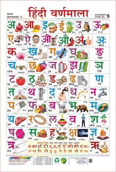 Paper Hindi Varnmala Chart for Children Learning Alphabet Educational Poster(Multicolour, Hindi Alphabet, Alphabet Charts, Alphabet Worksheets, Writing Worksheets, Hindi Language Learning, Hindi Worksheets, Lkg Worksheets, Learn Hindi, Hindi Words