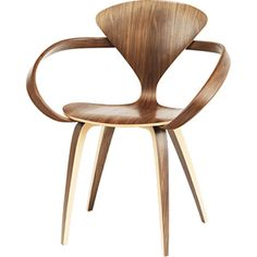 Norman Cherner armchair - my obsession of wanting to use a N. Cherner chair on set continues. Deco Design, Küchen Design, Chair Design, Interior Design, Vitra Design, Mid Century Dining Chairs, Dining Arm Chair, Sofa Chair, Upholstered Chairs