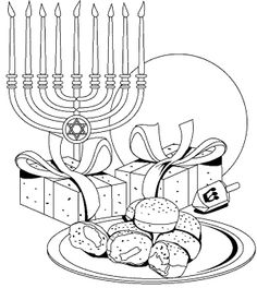 Easy to print menorah coloring page | Hanukkah | Pinterest ...