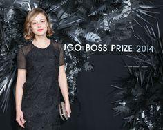 Italian actress Valeria Bilello at the HUGO BOSS PRIZE 2014.