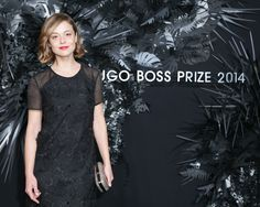 Italian actress Valeria Bilello at the HUGO BOSS PRIZE 2014.