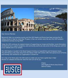 USO Office// Naples & Rome, Italy