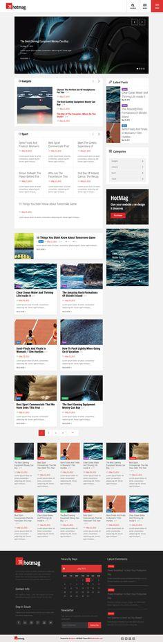 HotMag - Wordpress News, Magazine Responsive Theme #website #webdesign Download: http://themeforest.net/item/hotmag-wordpress-news-magazine-responsive-theme/11657078?ref=ksioks