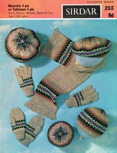 Fair Isle Accessories Set, Knitting Pattern PDF, Children's/Toddlers/Kids/Boys/G… – Awesome Knitting Ideas and Newest Knitting Models Fair Isle Knitting Patterns, Fair Isle Pattern, Craft Patterns, Vintage Patterns, Pdf Patterns, Crochet Patterns, Knitted Hats Kids, Vintage Knitting, 6 Years