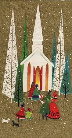 MId Century Christmas Card