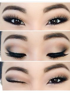 Neutral Smokey Eye Prom makeup www.RadiantFitAndHappy.com                                                                                                                                                      More